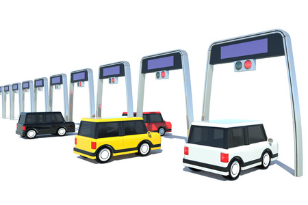 toll: Electronic toll collection system of Japanese-style Stock Photo