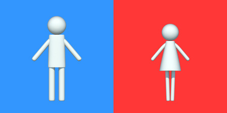 Pictograms of men and women photo