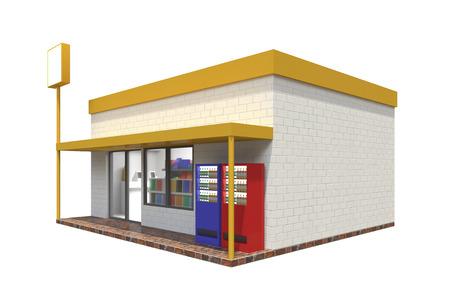 3d cg: Convenience store
