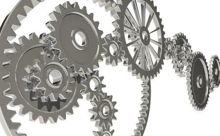 deceleration: Metallic?gear Stock Photo