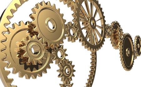 deceleration: Gears with a sense of luxury Stock Photo