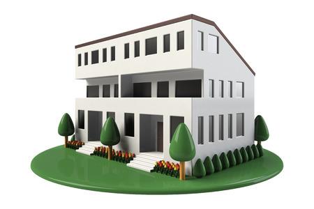 dwelling: Two-family dwelling Stock Photo