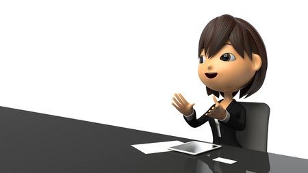 commentator: Businesswoman speak in response to the interview