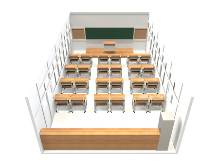 High Angle View of the classroom as seen from the rear