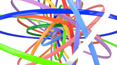 3dcg: Colorful 3D-CG background image