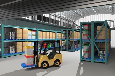Inside of the warehouse
