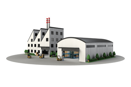 car factory: Factory and warehouse