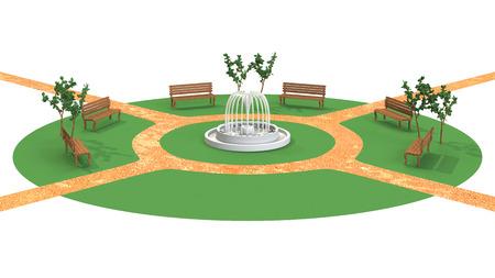 3D-CG image of unmanned park