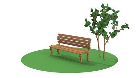 3dcg: 3D-CG image of Bench Stock Photo