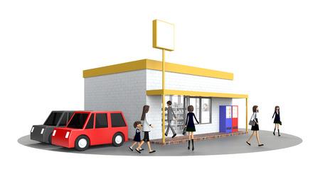 retail store where people gather Stockfoto