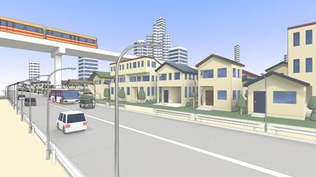 rn3d: Residential and new transportation system and roadway