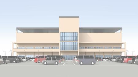 広い駐車場とショッピング センター 写真素材 - 40286706
