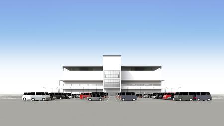 広い駐車場とショッピング センター 写真素材 - 40442264