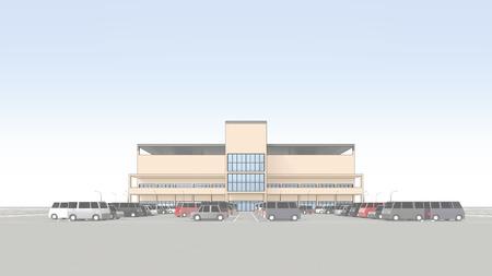 parking facilities: Centro comercial con un gran aparcamiento