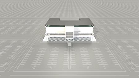 ショッピング モールの大駐車場が空 写真素材 - 40606368