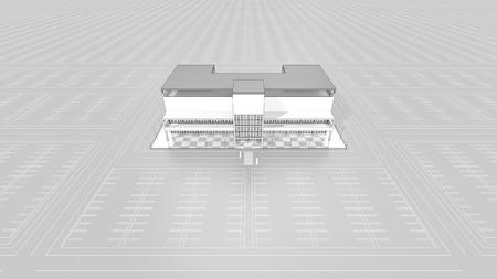ショッピング モールの大駐車場が空 写真素材 - 40606371