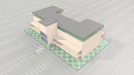 ショッピング モールの大駐車場が空 写真素材 - 40865800