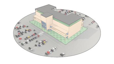 parking facilities: Alameda de compras con un gran aparcamiento