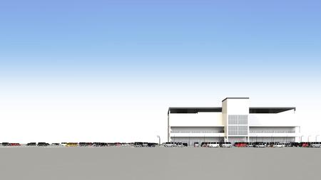 広い駐車場とショッピング モール 写真素材 - 40817283
