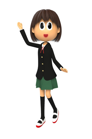 described: 3d image of Female student that are described
