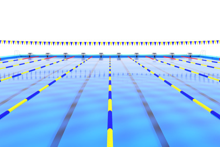 lanes: The goal of the swimming pool Stock Photo