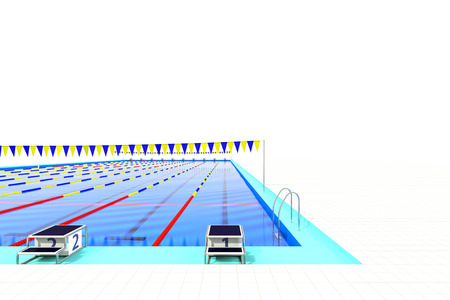 health care facilities: First course of 50m swimming pool