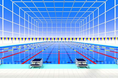 health care facilities: The view from the starting blocks of the indoor swimming pool