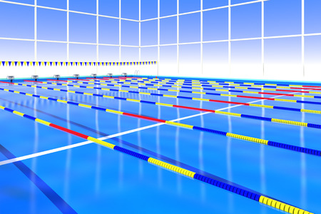 health care facilities: Course rope floating in the swimming pool
