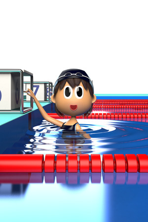 health care facilities: Female swimmer who are in the swimming pool