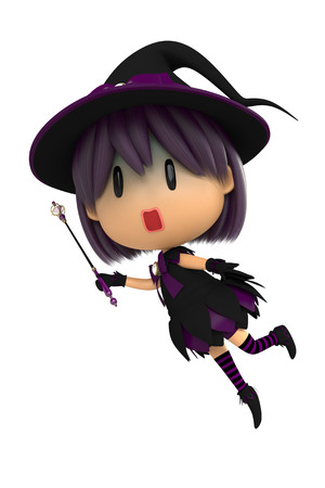 asher: Purple Witch Stock Photo