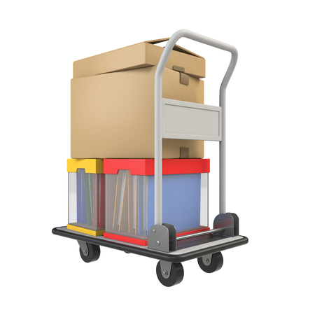 hand truck: Hand truck carrying the luggage