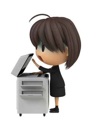 asher: Female staff that pale to use the copy machine