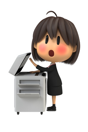embarrassing: Female staff to blush to use the copy machine