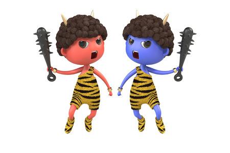 ogre: Red ogre and Blue ogre