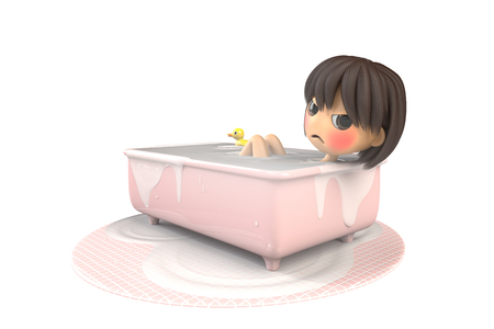 bad mood: Women are bathing in a bad mood