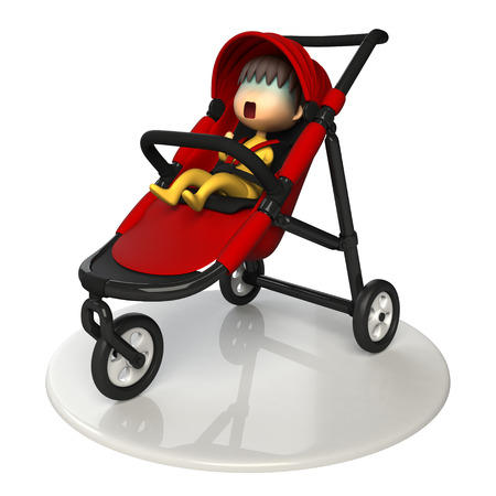asher: Baby in the buggy Stock Photo