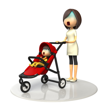 asher: Mom and baby in buggy