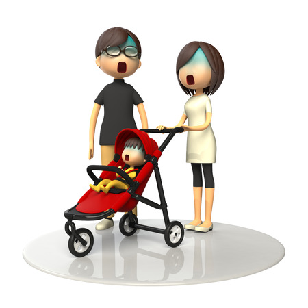 asher: Parents and baby buggy
