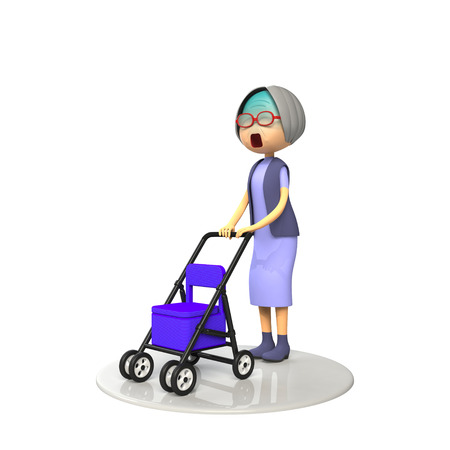 asher: Old lady that use the senior cart