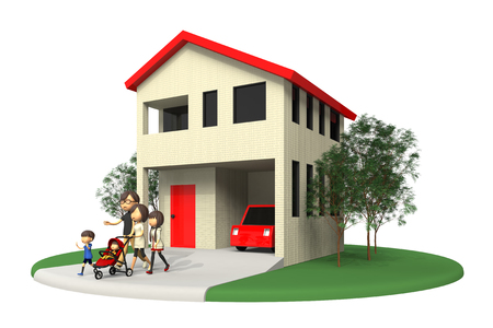 residential home: Residential home and family