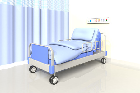 blu stanza d'ospedale di colore