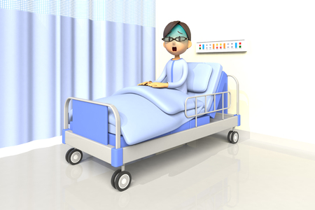 surprisingly: man in the hospital Stock Photo