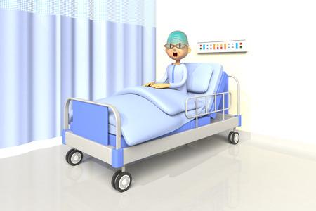 asher: elderly man in the hospital