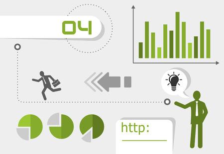 iphon: business diagram Illustration