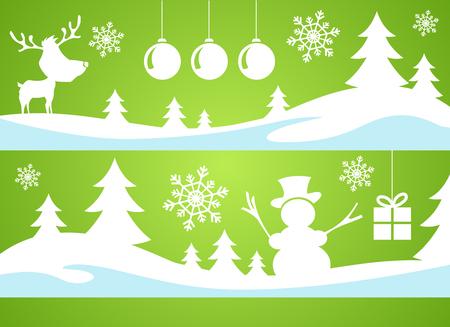 Christmas snowman winter