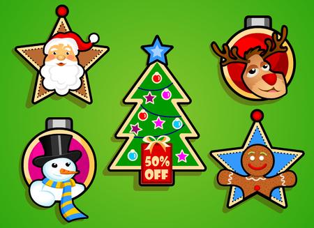 Christmas label logo Ilustrace