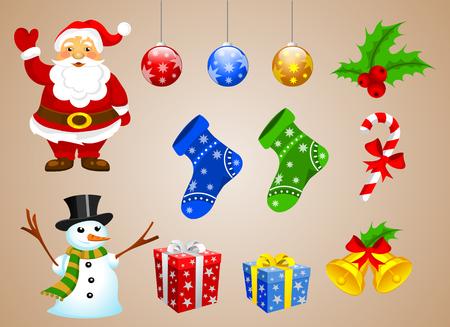 Christmas Nikolaus and Snowman