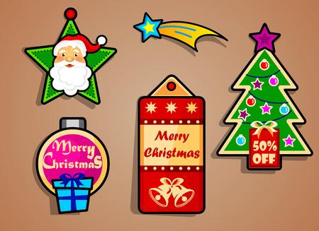 ringtones: Christmas label logo Illustration