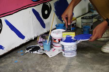 Street art  Paintbrush Editorial