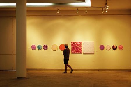 art museum: Art museum  Collage Editorial